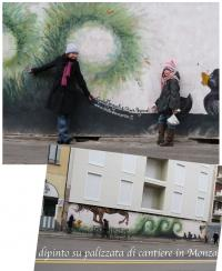 Dipinto su palizzata cantiere