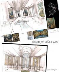 Disegni per villa a Kiev